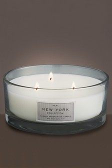 New York Fragranced 3 Wick Luxury Candle