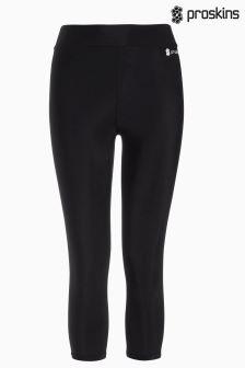 Czarne legginsy capri Proskins Gym Slim