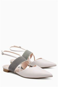 Strappy Colourblock Point Shoes
