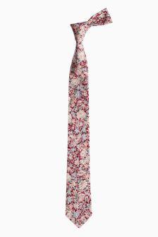 Галстук с цветочным узором