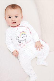 Unicorn Sister Sleepsuit (0-18mths)