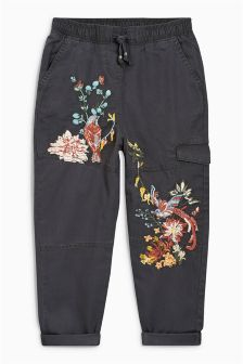 Embroidered Utility Trousers (3-16yrs)