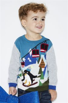 Penguin Ski Jumper (3mths-6yrs)