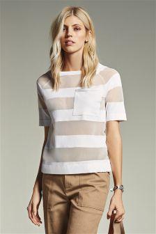 Sheer Stripe T-Shirt