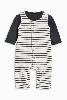 Stripe Dungarees (0mths-2yrs)