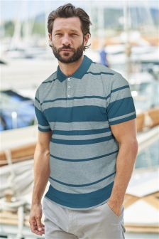 Striped Oxford Polo
