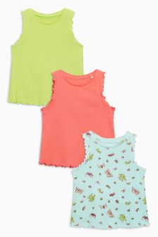 Frill Vests Three Pack (3mths-6yrs)