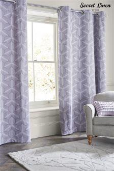 Secret Linen Company Eyelet Feathers Curtains