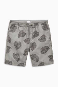Leaf Print Dock Shorts