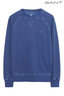 Gant Navy Washed Crew Sweatshirt