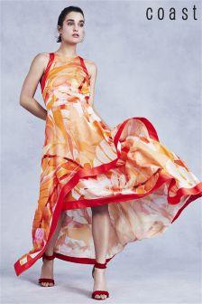 Оранжевое платье макси с рисунком Coast Jayda