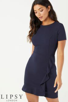 Lipsy Short Sleeve Ruffle Dress