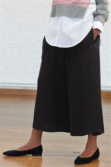 Czarne drapowane spódnico-spodnie French Connection Ellesmere