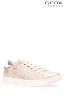 Золотисто-розовые кроссовки на облегченной литой подошве Geox Jaysen