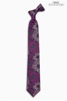 Коллекционный галстук с цветочным принтом