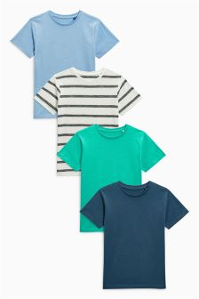 Short Sleeve T-Shirts Four Pack (3-16yrs)