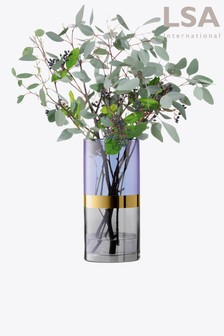 LSA International Blue Bangle Vase