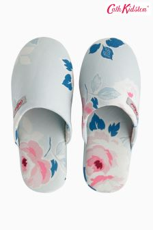 Cath Kidston® Blue Scattered Paper Rose Slipper