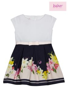 Baker By Ted Baker Navy Mockable Dress