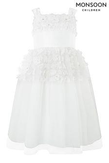 Monsoon Ivory Alstromeria Dress