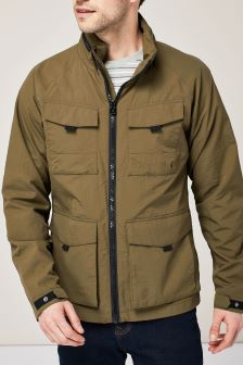 Куртка из жатой ткани с четырьмя карманами