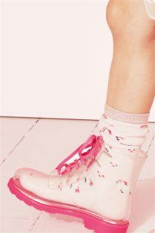 Unicorn Welly Socks Two Pack (Older Girls)