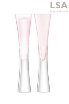 Set of 2 LSA International Moya Blush Champagne Flutes
