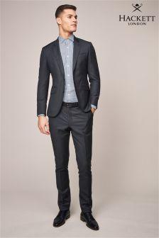Серые брюки из гладкой ткани Hackett