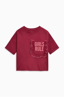 Ruffle Short Sleeve T-Shirt (3-16yrs)