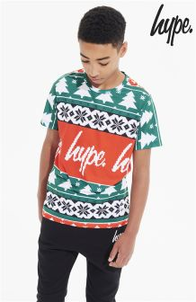 Hype Printed Christmas T-Shirt