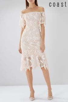 Coast Natural Tanya Lace Dress