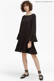 French Connection Black Bell Sleeve Dress