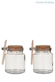 Set of 2 Sprinkle Jars With Wooden Spoons