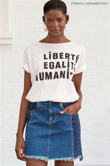 Синяя джинсовая трапециевидная мини-юбка French Connection Laos