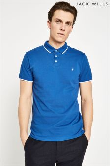 Jack Wills Blue Edgware Tipped Polo