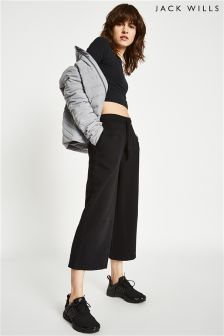 Jack Wills Black Erwin Cropped Joggers