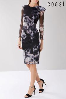 Coast Black Molly Mesh Dress