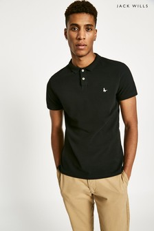 Jack Wills Black Aldgrove Plain Polo