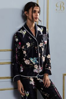 B By Ted Baker Navy Flight Of The Orient Revere Pyjama Top