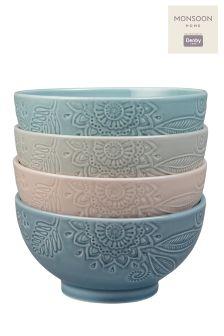 Monsoon Set Of 4 Medium Bowls