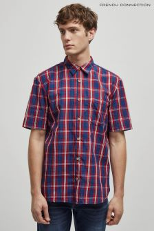 French Connection Blue City Gingham Shirt