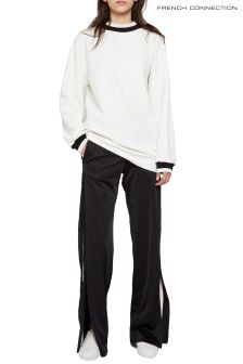 French Connection White Savos Sudan Textured Jersey Tunic