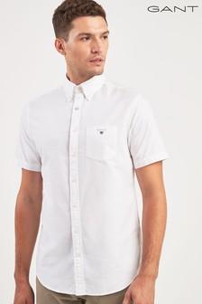 GANT White Short Sleeved Oxford Shirt