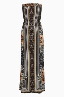 Платье-бандо макси