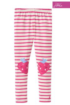 Joules Pink Stripe Leggings