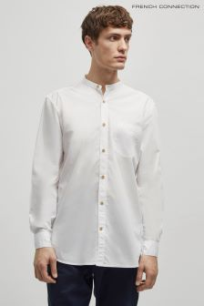 French Connection White Poplin Grandma Shirt