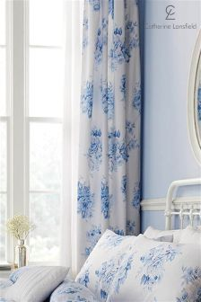 Catherine Lansfield Pencil Pleat Lined Curtains
