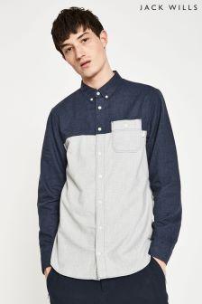 Jack Wills Navy/Grey Martindale Flannel Shirt