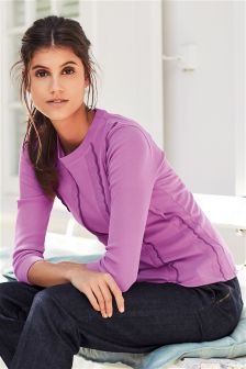 Long Sleeve Ruffle Front Sweater