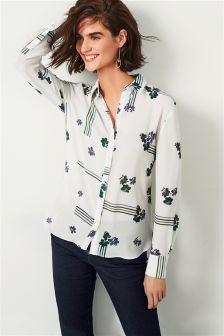 قميص ناعم زهور